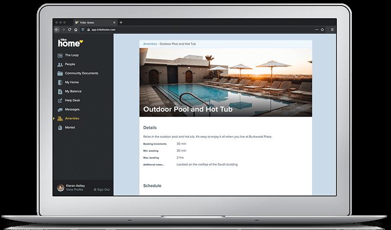 Tribe Home Community Platform - Tribe Property Technologies - Amenities